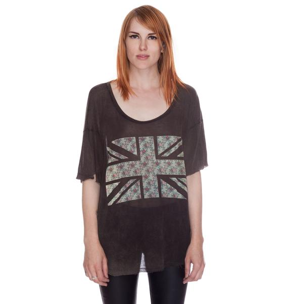Angie Floral Flag Top