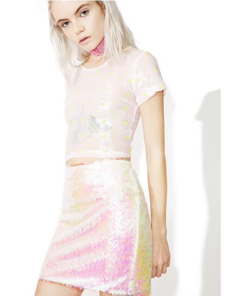 Mermaid Sequin Mini Skirt
