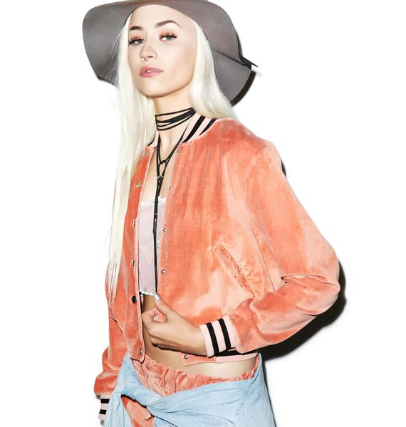 Wildfox Couture Teddy Baseball Jacket