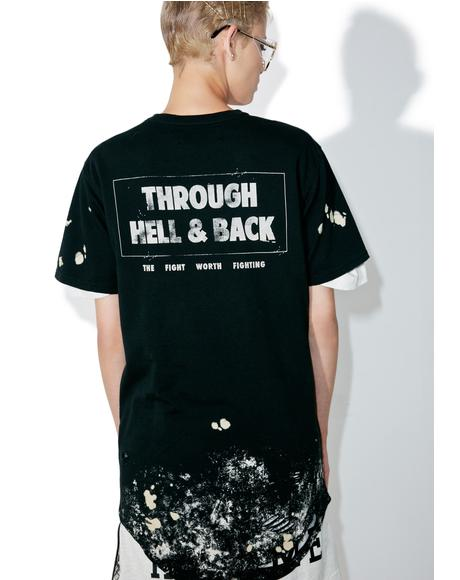 Through Hell & Back Thrashed Drop Tee