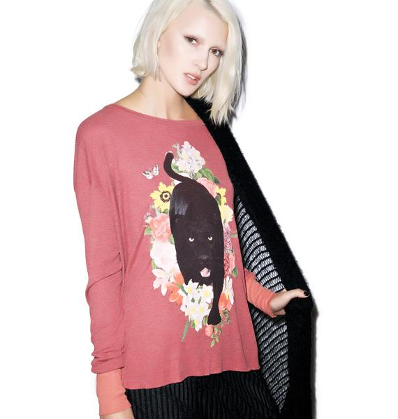 Wildfox Couture Panther Prowl Effortless Thermal