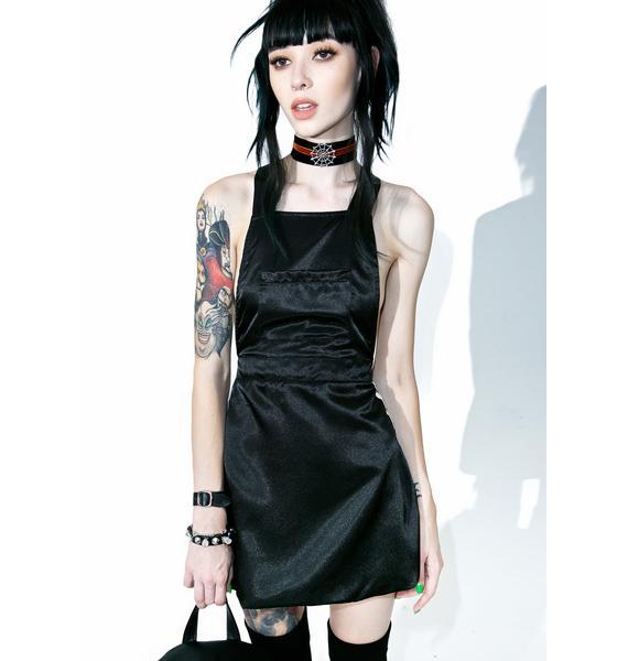 O Mighty Silk Kitten Pinafore Dress