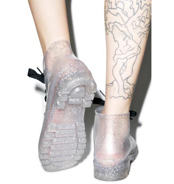 Juju Shoes Rain On Yer Parade Glitter Boots