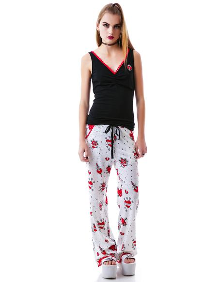 Lonely Hearts PJ Set