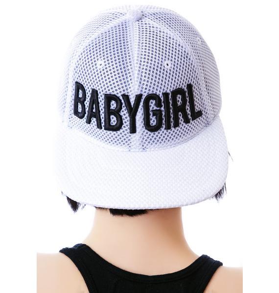 Dimepiece Babygirl White Mesh 6-Panel Cap