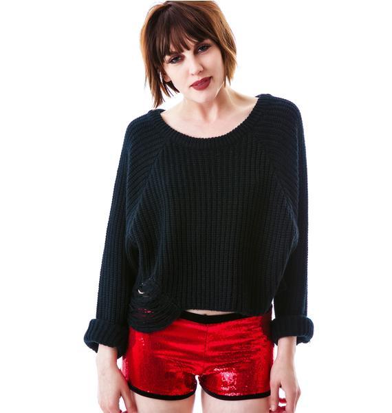 Marialia Bite Me Sequin Shorts