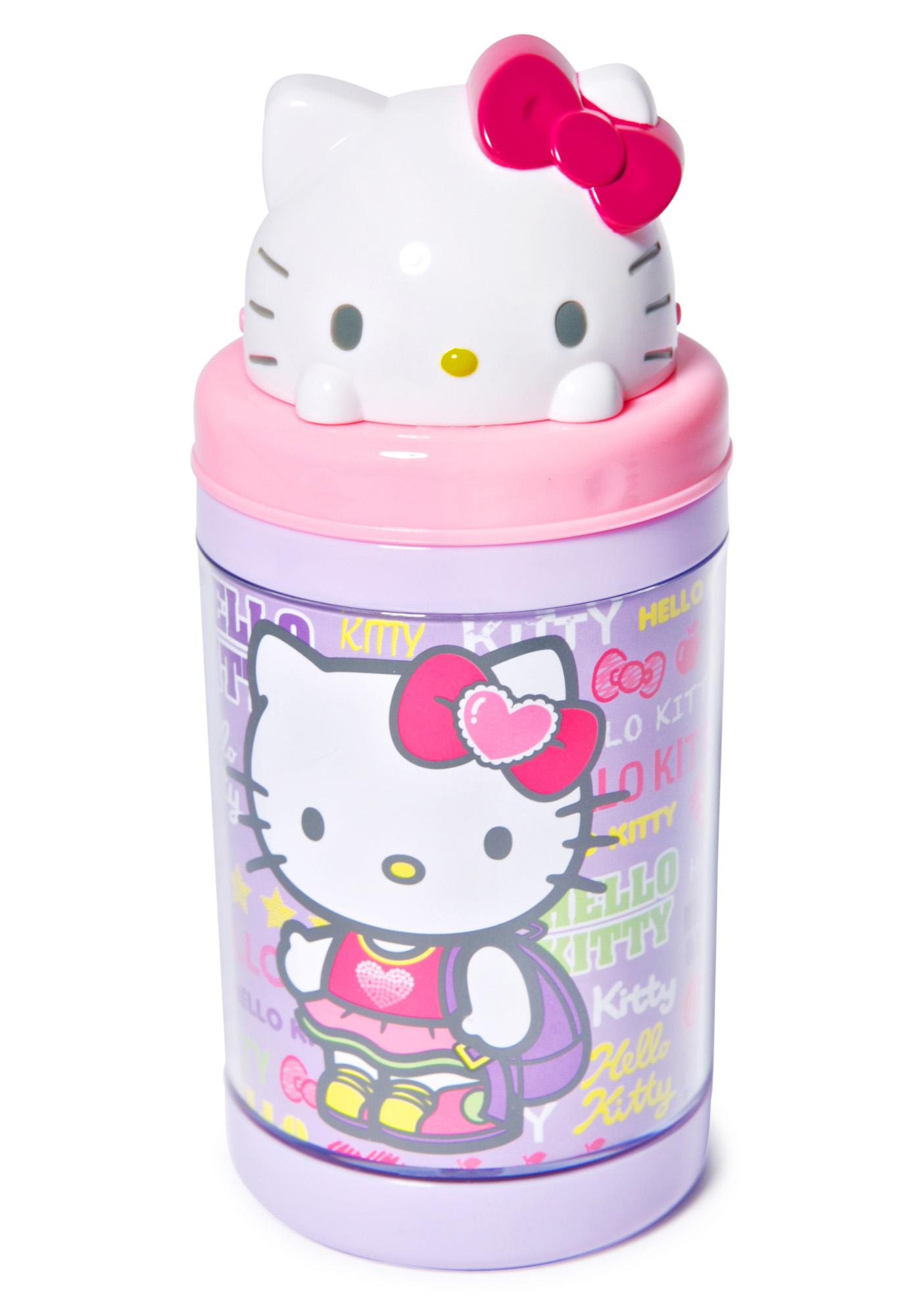 Sanrio Hello Kitty Pop-Up Straw Bottle