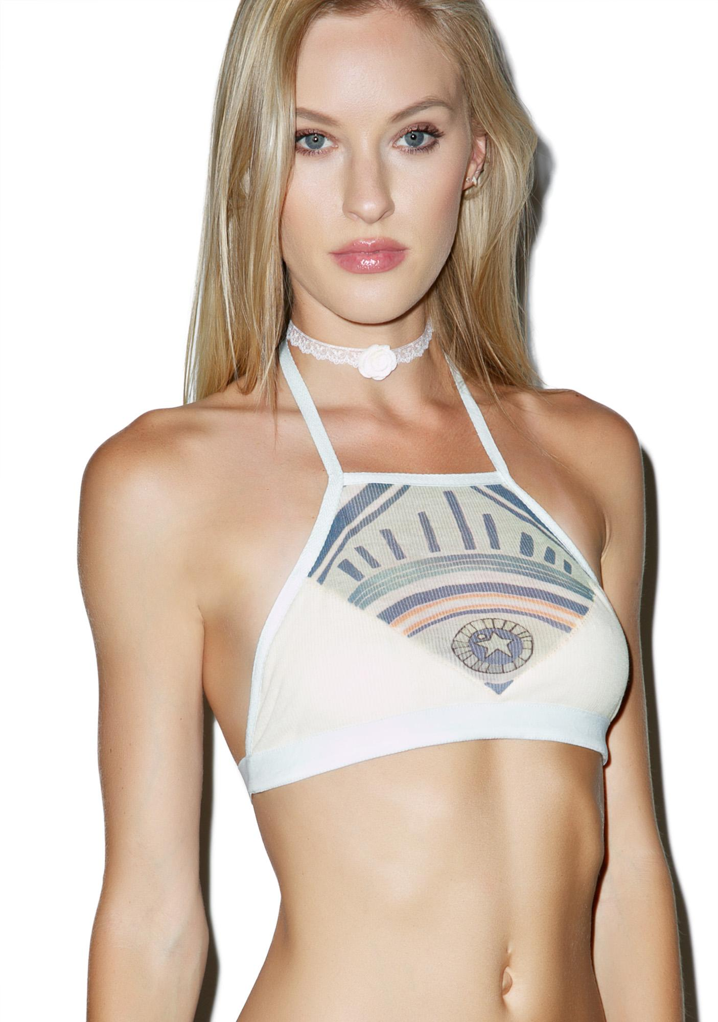 Save the Parade Hypnotic Farrah Crop Bra