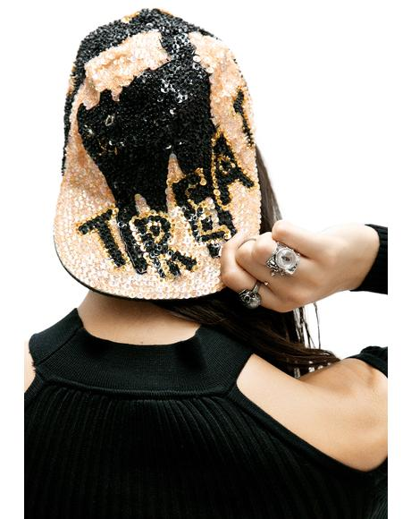 Trick Or Treat Sequin Hat