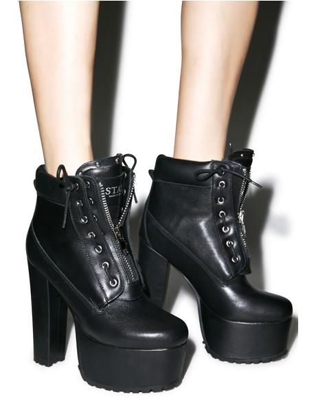 Stay Dark Prophecy Platform Boots