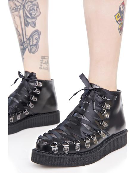 Lace-Up Corset Creepers