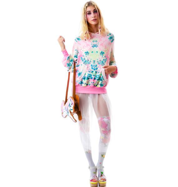 Wildfox Couture Electric Kimono Malibu Pullover