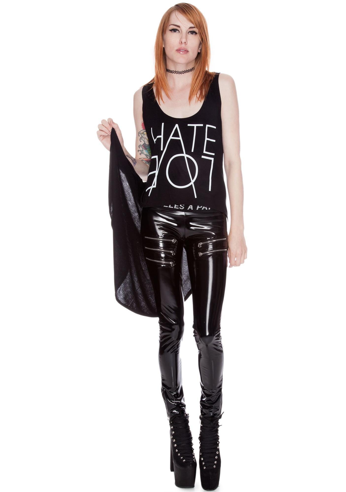 Hate Long Tail Crop Tank
