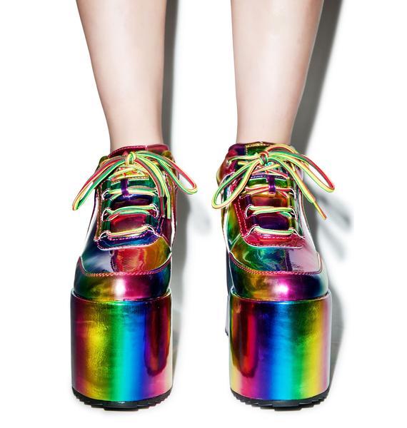 Y.R.U. Qozmo Lo Rainbo Platform Sneakers