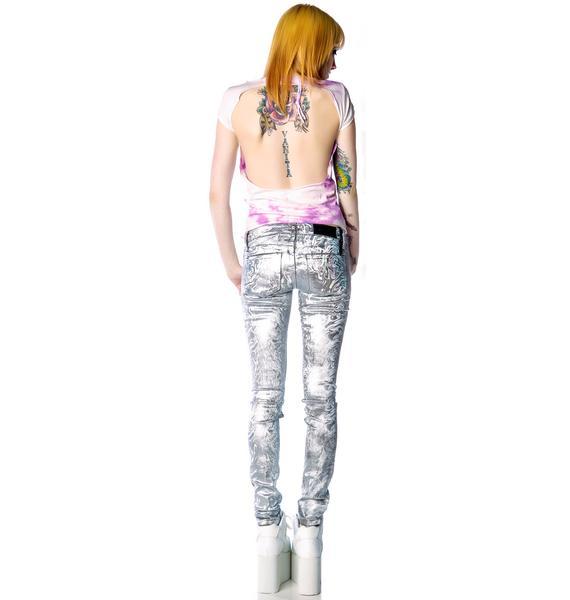 Kill City Melting Holographic Foil Junkie Jeans