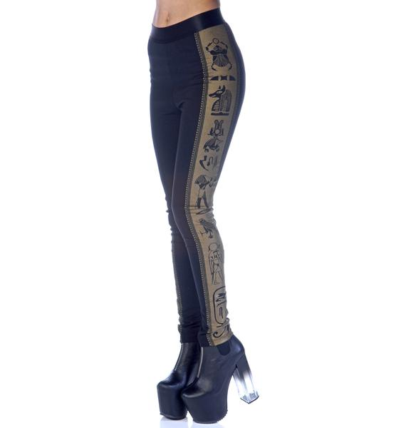 Widow Symbol Print Hi Waisted Leggings