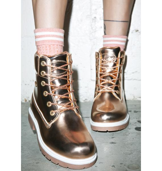 Lugz Rose Gold Shifter Boots