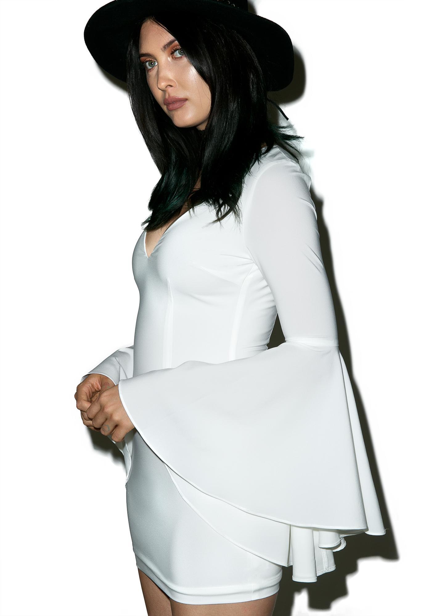 Wild Bell Sleeve Mini Dress