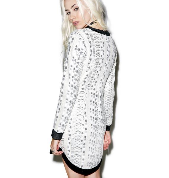 Strobe V-Neck Dress