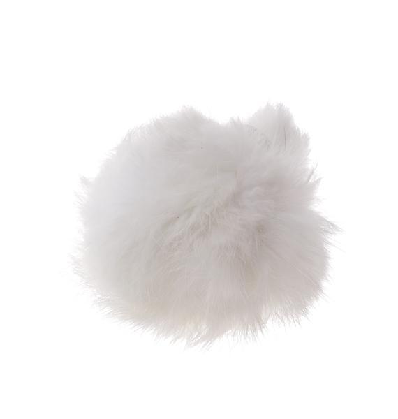 Snowball Fluffy Pom Keychain