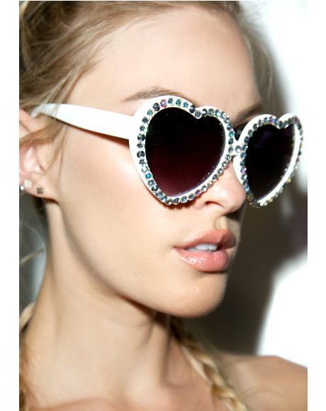 Crystal Lolita Sunglasses