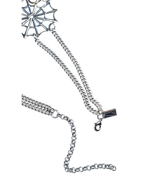 Regal Rose Webbed Collar Necklace