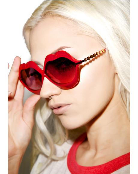 Red Lip Service Sunglasses