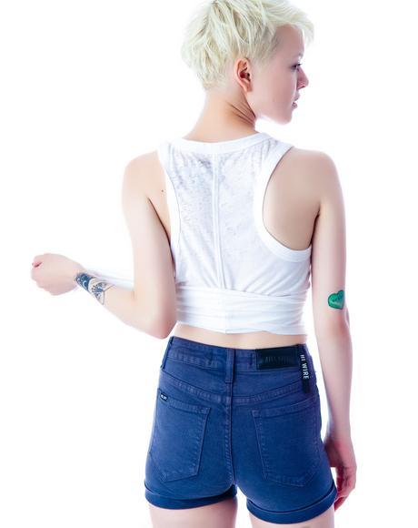 Hi Wire Stretch Jean Shorts