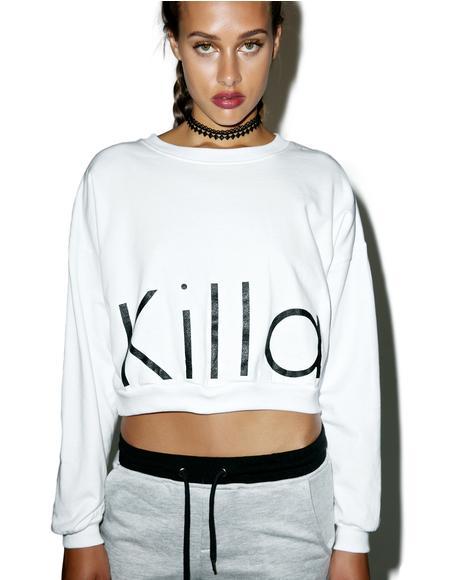 Killa Cropped Crewneck