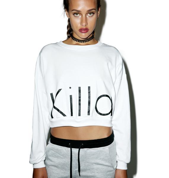 Kill Brand Killa Cropped Crewneck