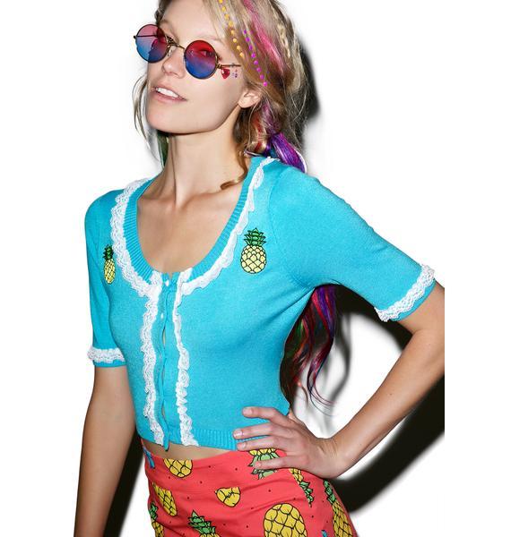 Sourpuss Clothing Bella Pina Colada Cardigan