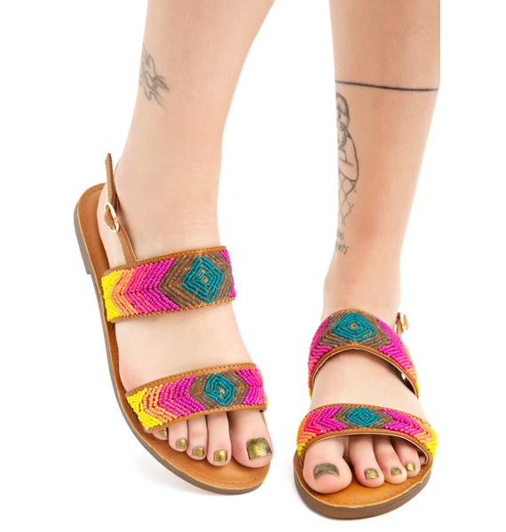 Lust For Life Weaving Rainbows Sandals