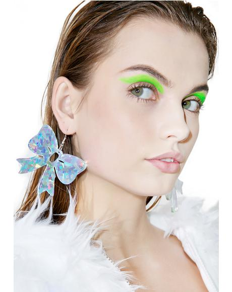 Holographic Bow Earrings