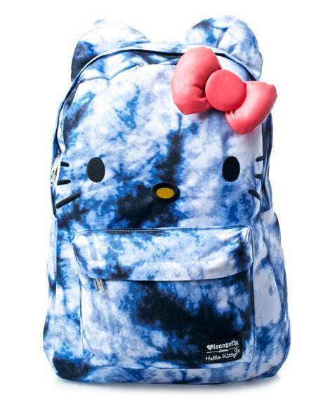 Hello Kitty Tie Dye Backpack