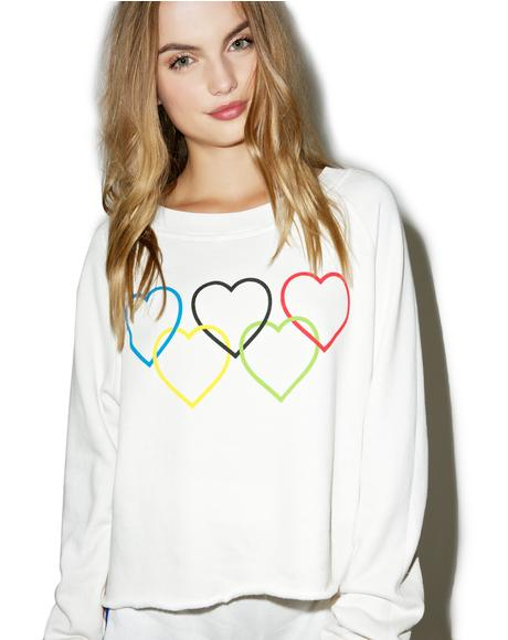 Olympic Hearts Sweatshirt