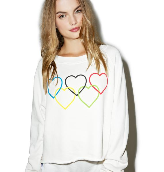 Wildfox Couture Olympic Hearts Sweatshirt