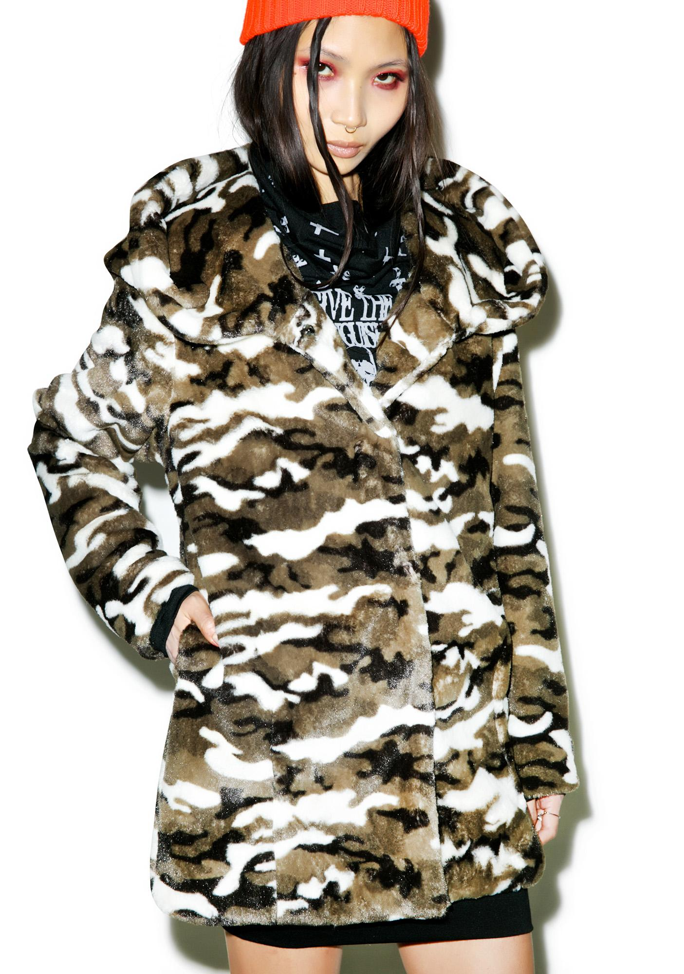 Camo Combat Hooded Coat
