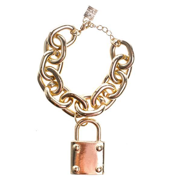 Lock 'N Chain Bracelet
