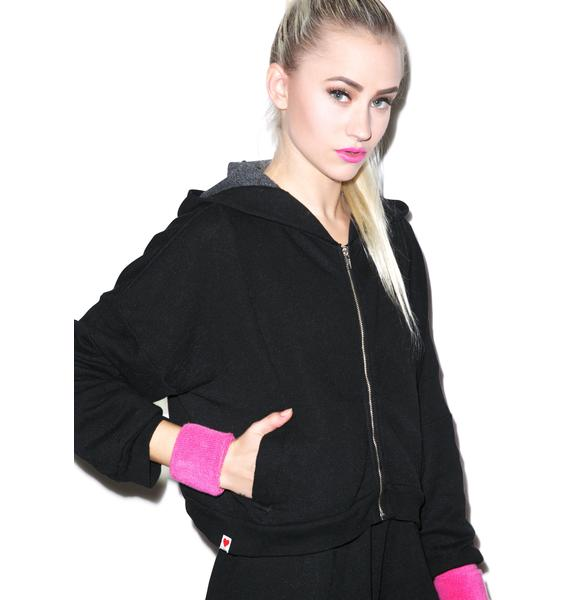 Wildfox Couture Balance Draped Hoodie