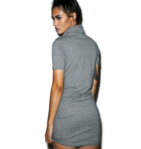 Glamorous I'll Call U Back Turtleneck Dress