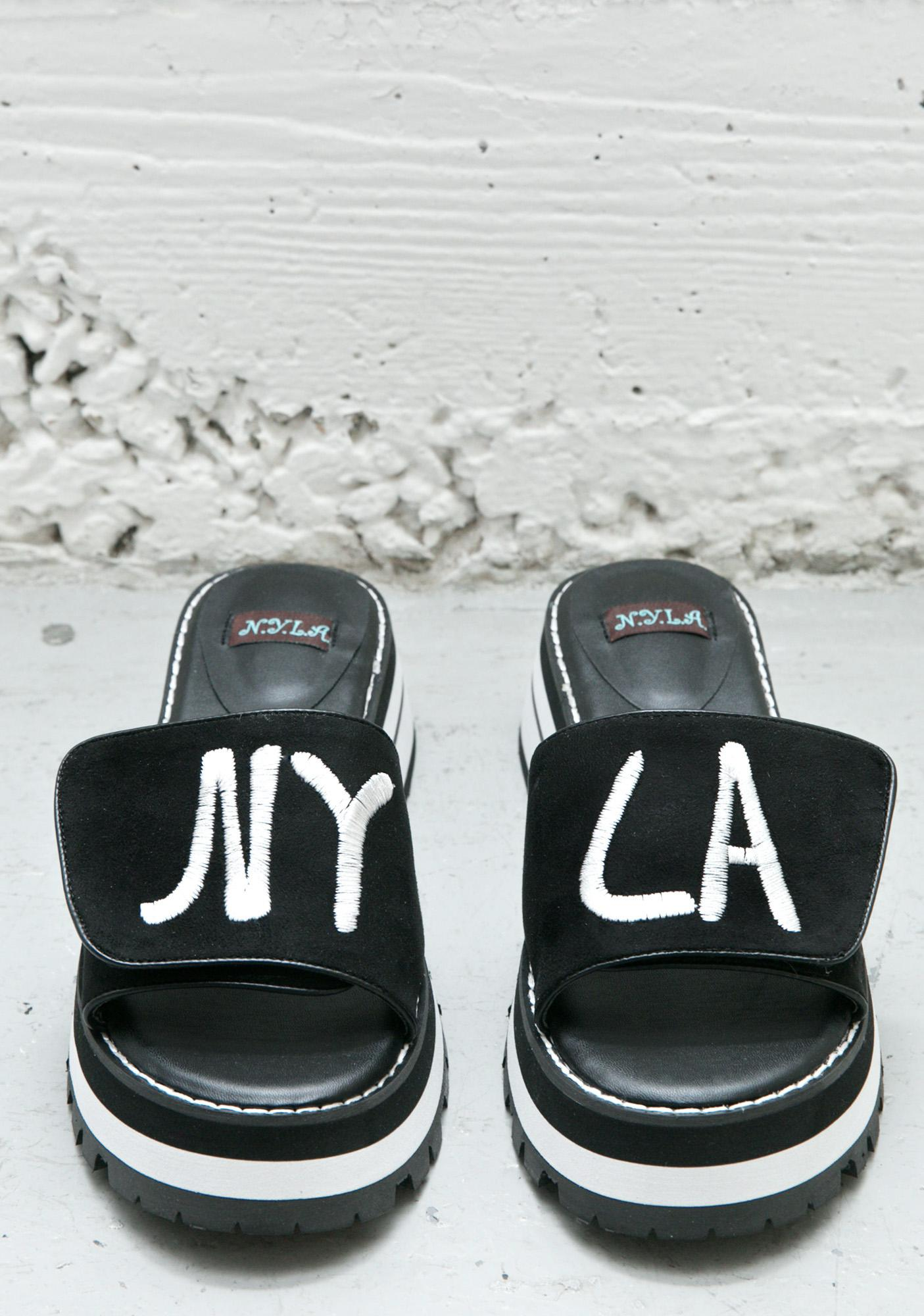 NY LA Slide Sandals