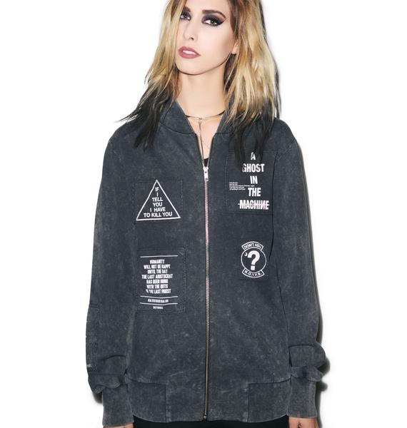 Disturbia Ghost Bomber Jacket