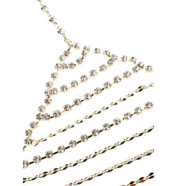 Glam Gal Gold Chain Bra