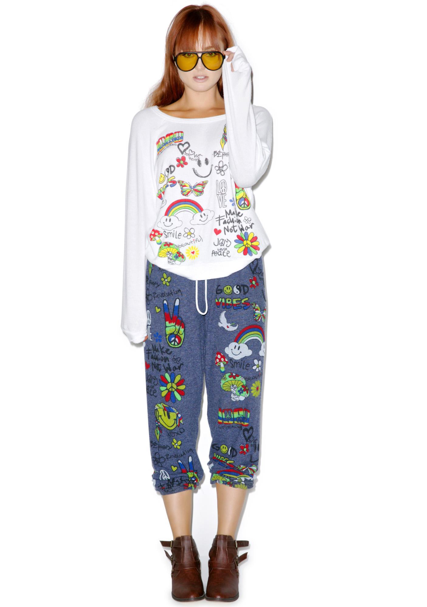 Lauren Moshi Good Vibes Sweatshirt