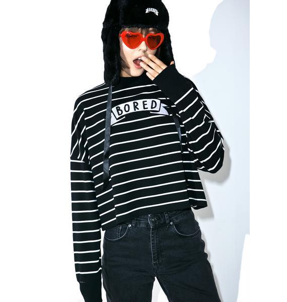 Lazy Oaf Bored Stripey Sweatshirt