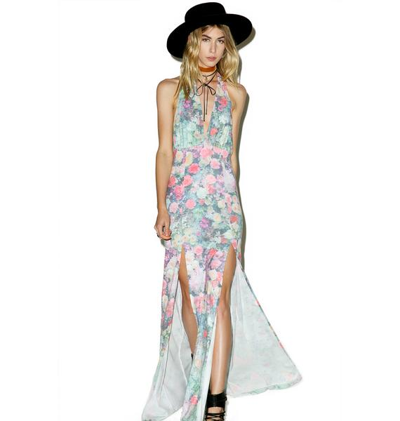 Wildfox Couture Paris Garden Halter Dress