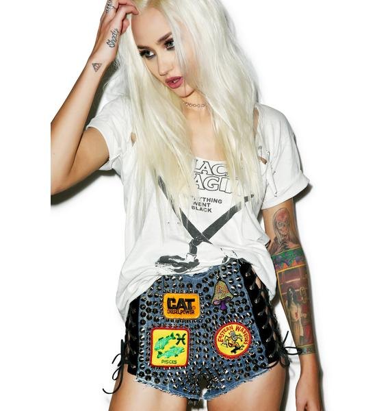 Hazmat Design High Waist Hell Raiser Shorts