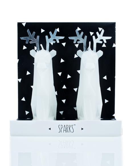 Sparks Reindeer Candle Set
