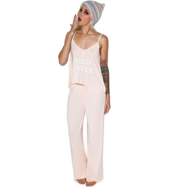 Wildfox Couture Need Coffee Cami & Classic Pant Set