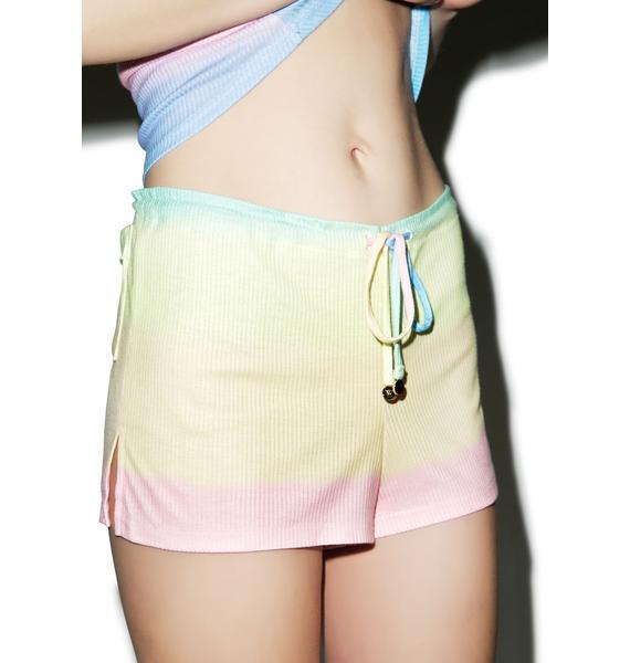 Wildfox Couture Pastel Tie Dye Sun Shorts